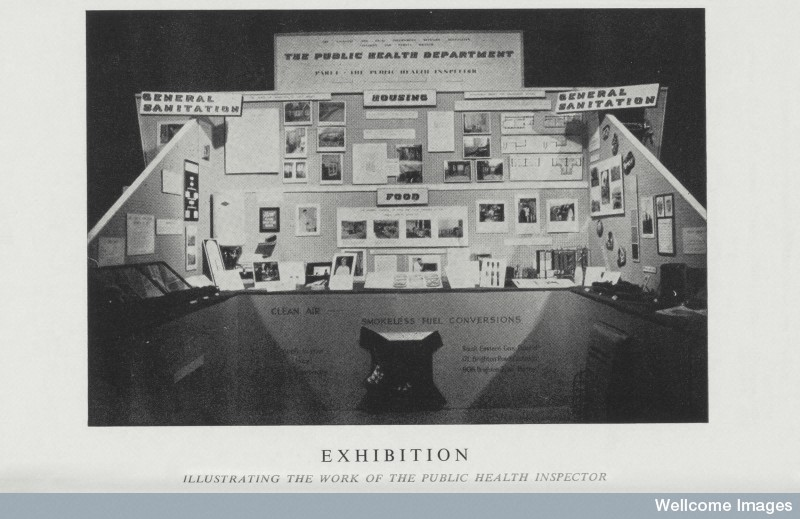 L0074597 Exhibition showing work of public health inspector, 1959